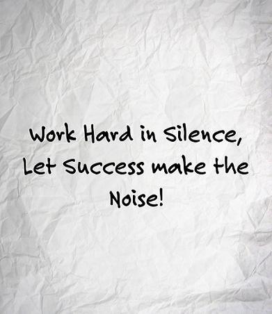 Cerca di lavorare in silenzio