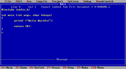 Ambienti di sviluppo C - Turbo C++